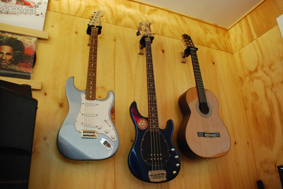Some guitars.