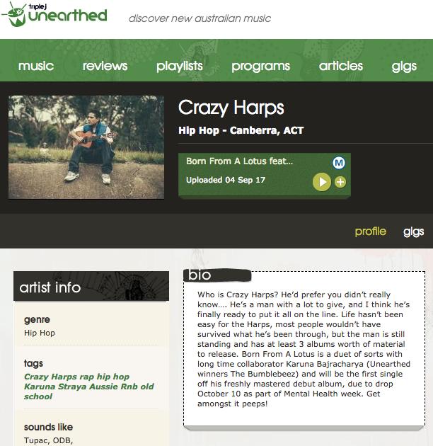https://www.triplejunearthed.com/artist/crazy-harps